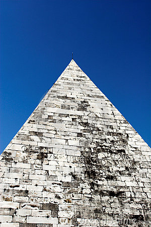 Pyramid of Cestius is Egyptian