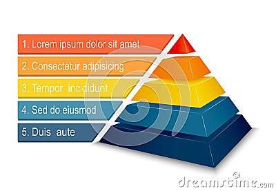Pyramid chart for infographics