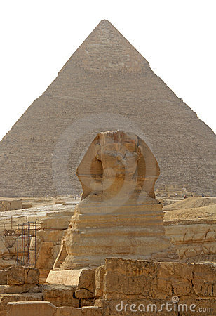 Pyramid of Cheops and the Sphinx