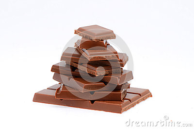 Pyramid of chocolate slices