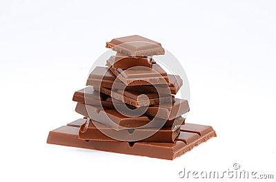 Pyramid of chocolate slices