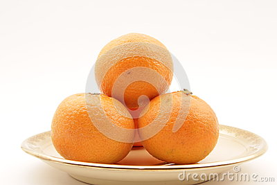 Pyramid of clementines