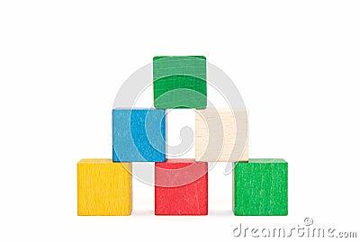 Pyramid of color blocks