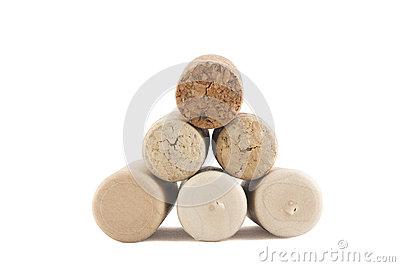 Pyramid of corks