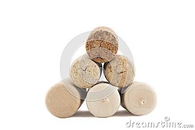 Pyramid of corks
