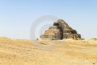 Pyramid in the desert