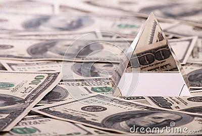 Pyramid on dollars.