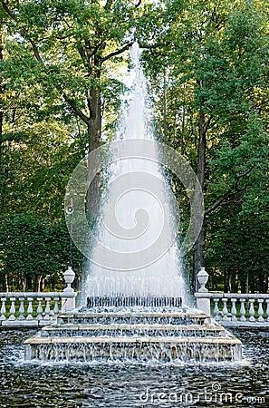 Pyramid fountain in Peterhof