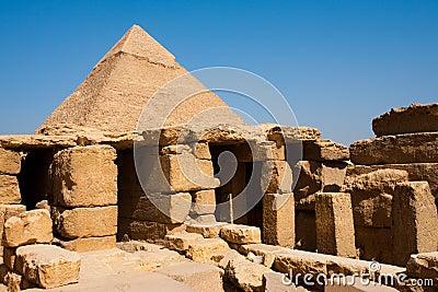Pyramid Funerary Temple Ruins Khafre Giza