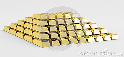 Pyramid of gold bars
