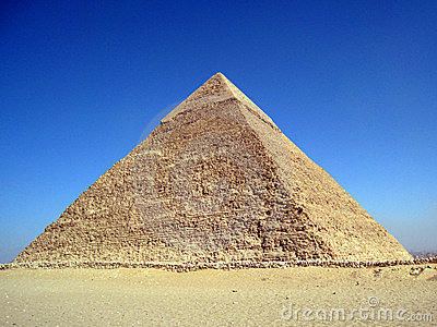The pyramid of Khafre in Giza, Cairo