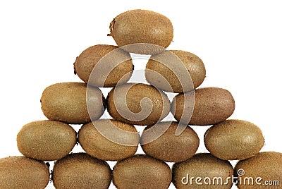 Pyramid of kiwis