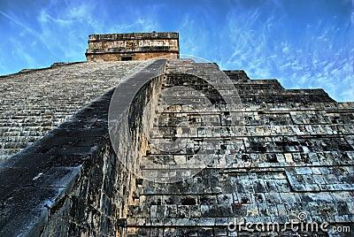Pyramid of Kukulcan. Chichen Itza. Mexico