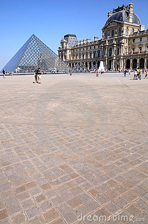 Pyramid in Louvre Editorial Stock Photo