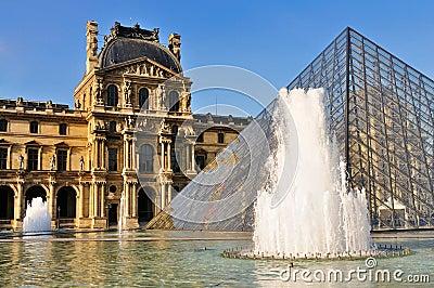 Pyramid of the Louvre, Paris Editorial Image