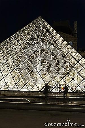 Pyramid Louvre - Paris Editorial Stock Photo