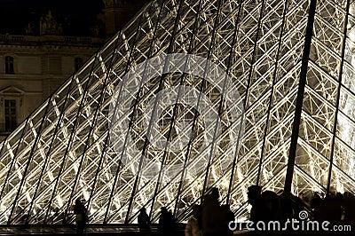 Pyramid Louvre - Paris Editorial Stock Image