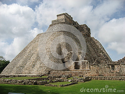 The Pyramid of the Magician Uxmal Yucatan Mexico