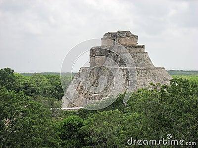 The Pyramid of the Magician Uxmal Yucatan Mexico