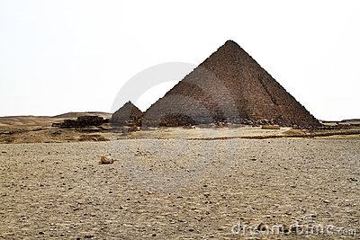 Pyramid of Menkaure in Giza - Egypt