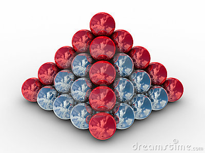 Pyramid From Metal Spheres On A White Background Royalty Free Stock Photo - Image: 10053425