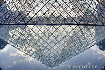 Pyramid of Museum Du Louvre Editorial Stock Photo