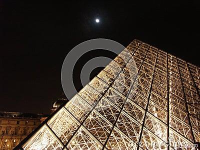 Pyramid at night  Editorial Stock Photo