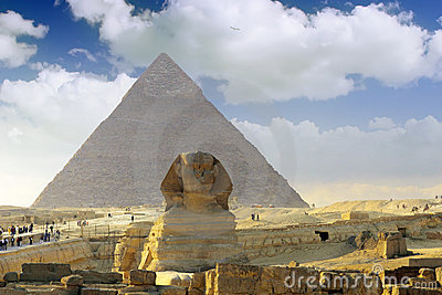 Pyramid of Pharaoh Khufu, and the Sphinx.