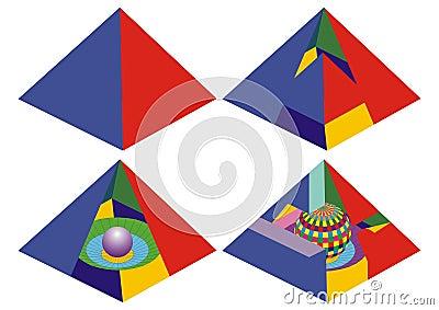 Pyramid real and impossible visual math