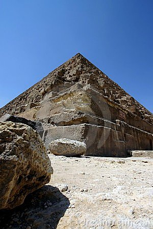 Pyramid and rock