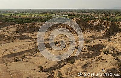 Pyramid settelment in Peru near Chiclayo