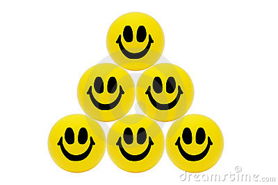 Pyramid of Smiling yellow balls