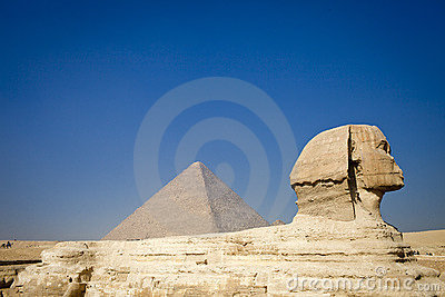 The Pyramid and the Sphinx.