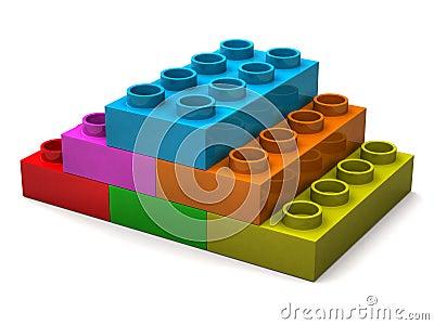 Pyramid from toy bricks