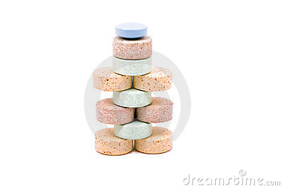 A pyramid of vitamins