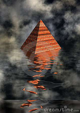 Pyramid in water