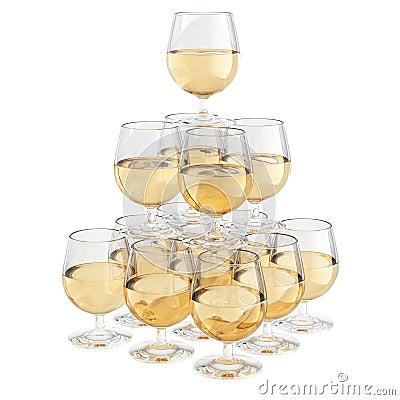 pyramide en verre de champagne images stock image 10703004. Black Bedroom Furniture Sets. Home Design Ideas