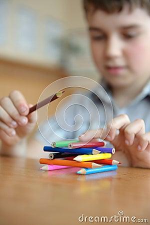 Free Pyramide Of Pencils In Classroom Stock Photos - 24820703