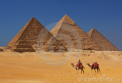 The Pyramids in Egypt Editorial Image