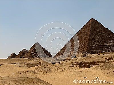 Pyramids At Giza Stock Photos