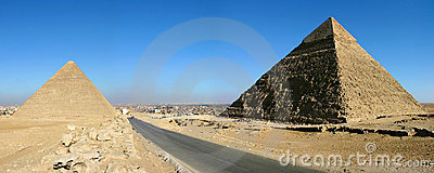Pyramids of giza in Cairo