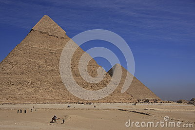 Pyramids of Khafre and Khufu
