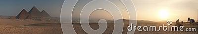 Pyramids sunrise blur 5000x878