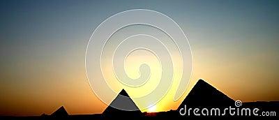 Pyramids sunset
