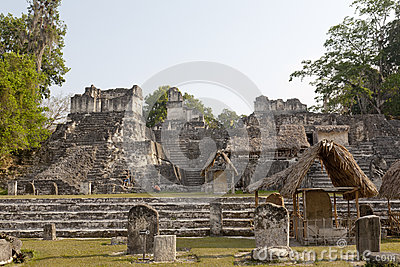 Pyramids at Tikal National Park in Guatemala Editorial Photo