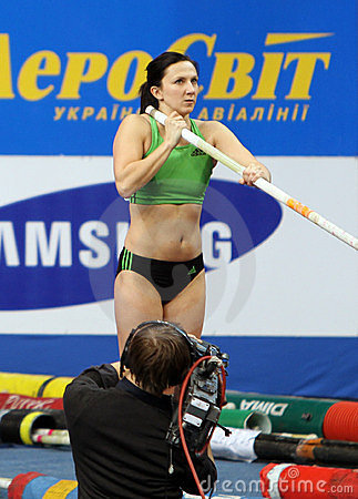 Pyrek Monika - Polish pole vaulter Editorial Photo