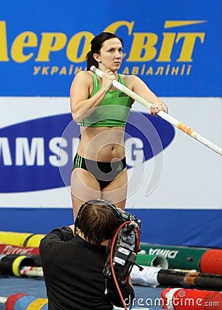 Pyrek Monika - Polish pole vaulter Editorial Photo