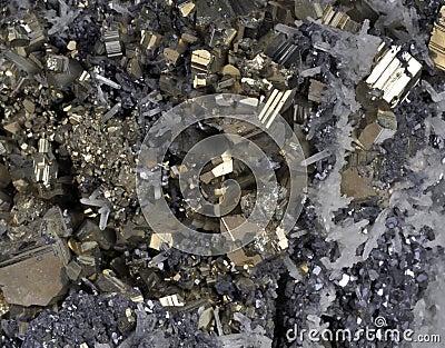 Pyrites druse