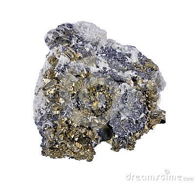 Pyrites druse with galena