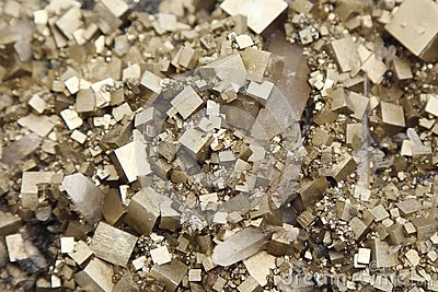 Pyrites with galena, calcite, quartz